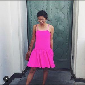 ASOS Fuchsia Pink Drop Waist Dress
